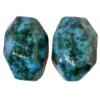 Semi-Precious 15x20mm Facetted Green Spot Jade Coated Green